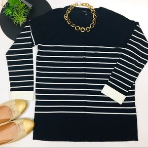 FATE. (NORDSTROM) Stripe Navy White Nautical Top
